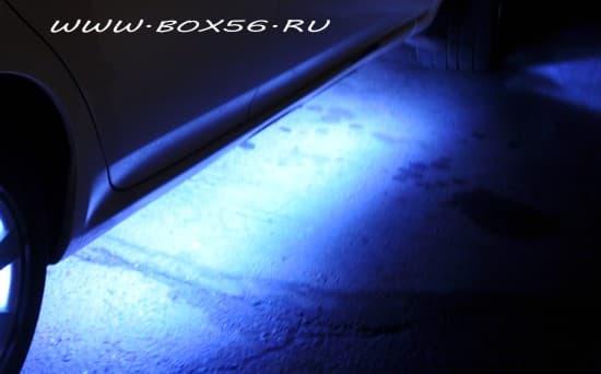 Подсветка порогов автомобиля своими руками 80